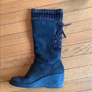 UGG black wool Boots 7.5